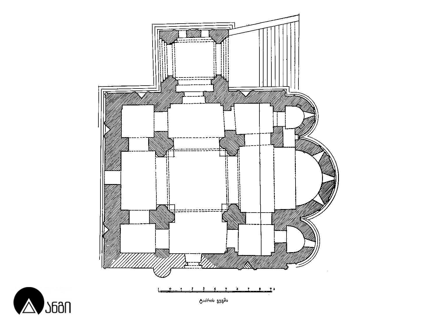 მეტეხის ტაძრის გეგმა
